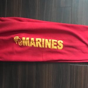 Other - Red Marines Logo Sweat Pants- Large